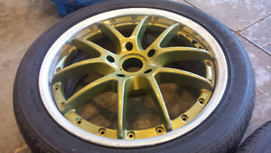 Authentic 3-piece Work VS-SS wheels 17x7 5x114.3 with tires