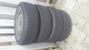 Four 195/65R15 Michelin winter Tire with rims