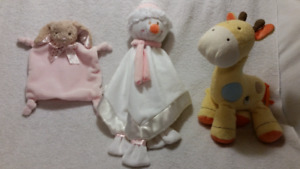 Carter's Giraffe Musical Toy,Snowman/Bunny Security Blankets