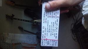 Metallica concert ticket