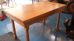 Kitchen Table  Hardwood Butcher Block 30 x54