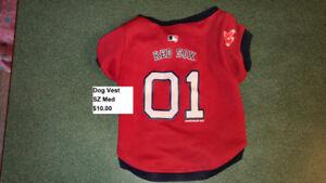 Boston Red Sox small Dog Vest