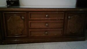 Vintage cabinet with mirror and CD storage