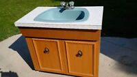 """""""PRIVATE ESTATE MOVING SALE"""" - Bathroom Sink and Counter Cabinet"""
