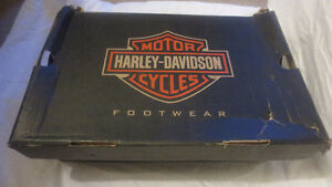 Womens Harley Davidson Motorcycle Boots 7.5 Black Leather D83775
