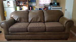 Leather couch / sofa