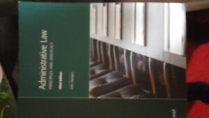 Administrative law book for paralegal.