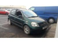 2002 02 TOYOTA YARIS 1.3 16V VVTi CDX 5 DOOR.GREAT RUNNER.SOLD AS SPARES,REPAIRS