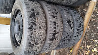 Set of 4 Tires & Rims Continental 195/60R15 Winter Ford Fiesta