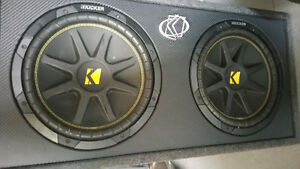 Dual 12 inch kicker subs and jbl amp