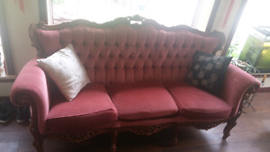 Antique Sofa and Loveseat