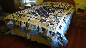 Quilt / Bedspread, Titled Autumn Setting