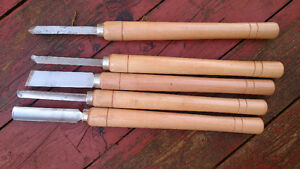 WOOD TURNING KNIVES WITH PEN BLANKS