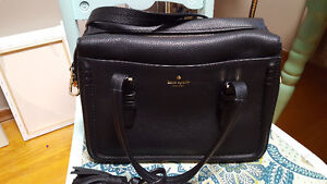 New Kate Spade black leather bag