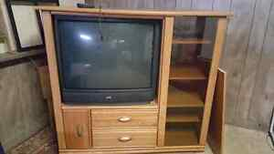 "36"" jvc and entertainment unit ."