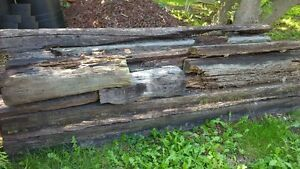 8+ Railroad Ties Rough Shape- good for split rail Fence Windsor Region Ontario image 1