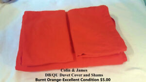 Colin and James Double/Queen Duvet Cover and Shams