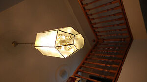 Beautiful Antique chandelier and other matching fixturea