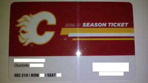 Calgary Flames Seasons Tickets FOR SALE