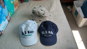 3 baby/toddler hats