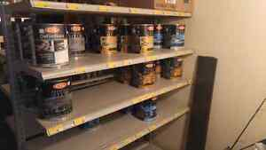 Assorted CIL paints and painting supplies