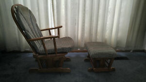 Rocker chair and ottoman