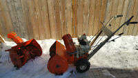 "Ariens 5hp 21"" snowblower.  comes with a extra front end"