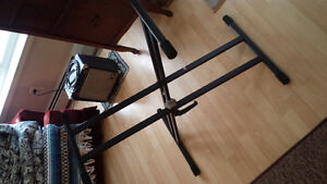 Keyboard stand with quicklock