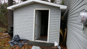 Free 16x8x9 foot shed.