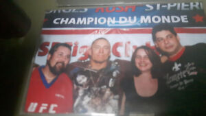 Autographed GSP Georges St-Pierre UFC 83 Serra Bisping White