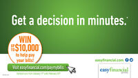 Your bills won't pay themselves. We can help. Easyfinancial