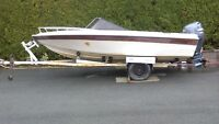 2002 Yamaha 100 four stroke wth boat and trailer