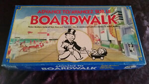 vintage 1985 ADVANCE TO BOARDWALK BOARD GAME- COMPLETE