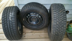 4 Studded Winter Tires for Sale without the rims.