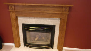 Fireplace Mantle and Surround - Oak