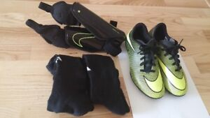Kids soccer cleats, shin guards and socks only for $30