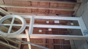 2 French Doors, 1 Radial Arch Window For Sale