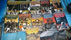 9 The Walking Dead soft cover trade paperbacks