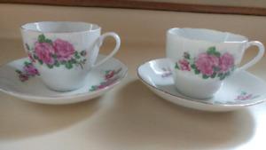 Matching tea cups