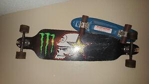 Skate board.  Long board