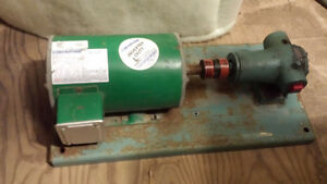 High torque 3/4 hp electric motor and fuel pump
