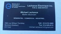 Maitre   Électricien   Montréal  PLATEAU   514 572-3869