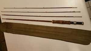 ANTIQUE SPLIT CANE FLY FISHING ROD