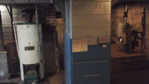 Free oil furnace, ducts and water heater