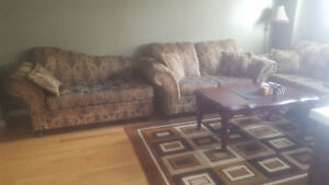 3 Piece Sofa with Pillows for Sale