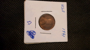 COINS US PENNY 1936,5CENTS US 1904,US PENNY 1941,1944,1900 OLD.
