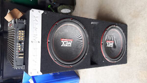 2 MTX subs plus box and Amp