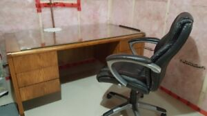 Quality Executive Desk with leather chair