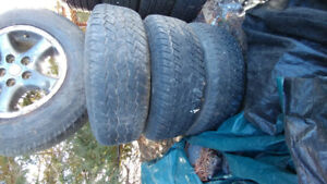 JEEP RIMS WITH TIRES