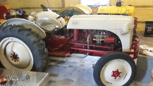 1948 8n Ford tractor complete with plow and chains